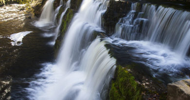 Picturesque Brecon Beacons Waterfalls in Autumn
